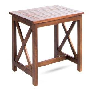 Taraska Outdoor Wood End Table by Loon Peak