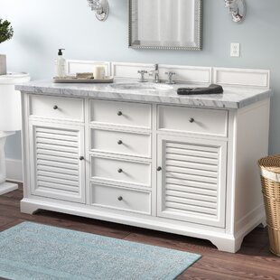 Osmond Traditional 60 Single Cottage White Bathroom Vanity Set by Greyleigh