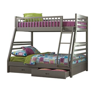 Robbinsdale Twin over Twin Bed with Trundle and 2 Drawers by Harriet Bee
