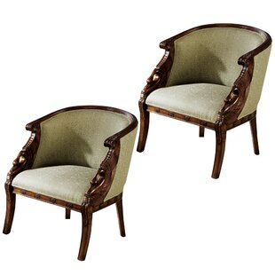 Design Toscano Due Cigno Armchair (Set of 2)