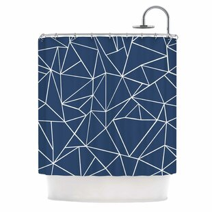 Abstraction Outline by Project M Abstract Single Shower Curtain