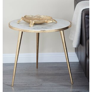 Marble End Table by Cole & Grey