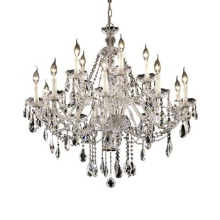 Astoria Grand Schroeppel Traditional 15-Light Candle Style Chandelier with Chain