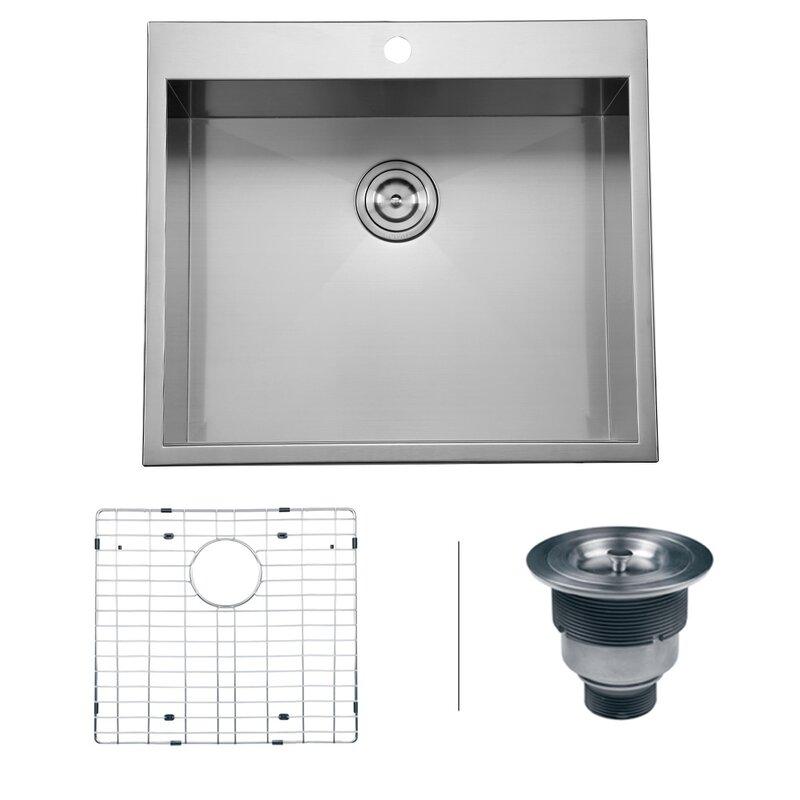 Tirana 25 x 22 drop in 16 kitchen sink reviews allmodern tirana 25 x 22 drop in 16 kitchen sink workwithnaturefo