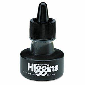 Higgins Waterproof India Ink For Art/Technical Pens, 1 Oz Bottle