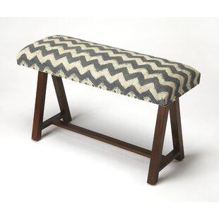 Red Barrel Studio Delit Zig Zag Upholstered Bench