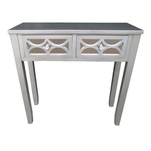 Manley Wooden 2 Drawer Console Table by House of Hampton