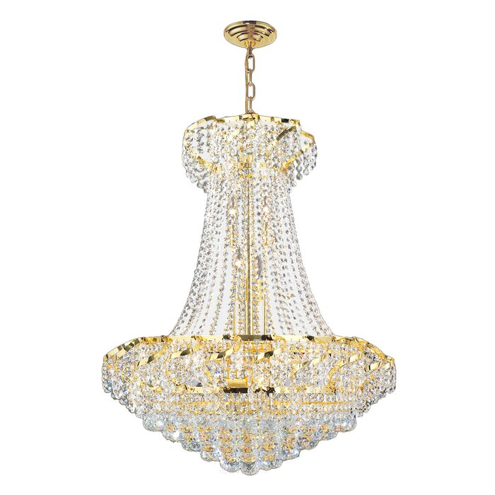 House of hampton carson 15 light crystal empire chandelier reviews carson 15 light crystal empire chandelier aloadofball
