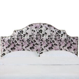 Latitude Run Laszlo Nail Button Notched California King Upholstered Panel Headboard