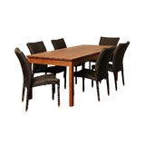 Farallones International Home Outdoor 7 Piece Dining Set