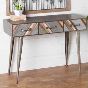Clive Metal and Wood Hall Console Table