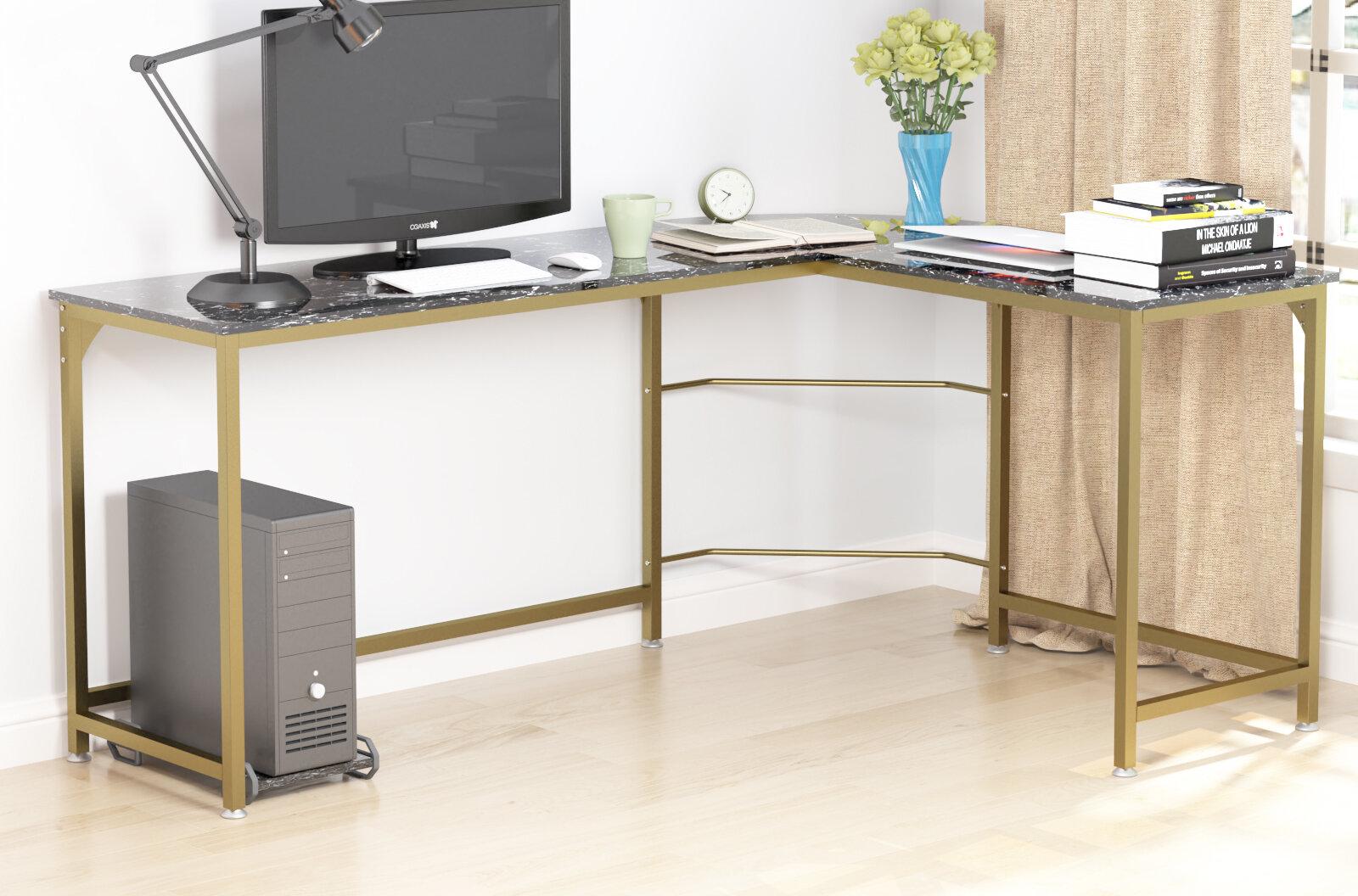 Mercer41 Herlinda Reversible L Shape Desk Reviews Wayfair
