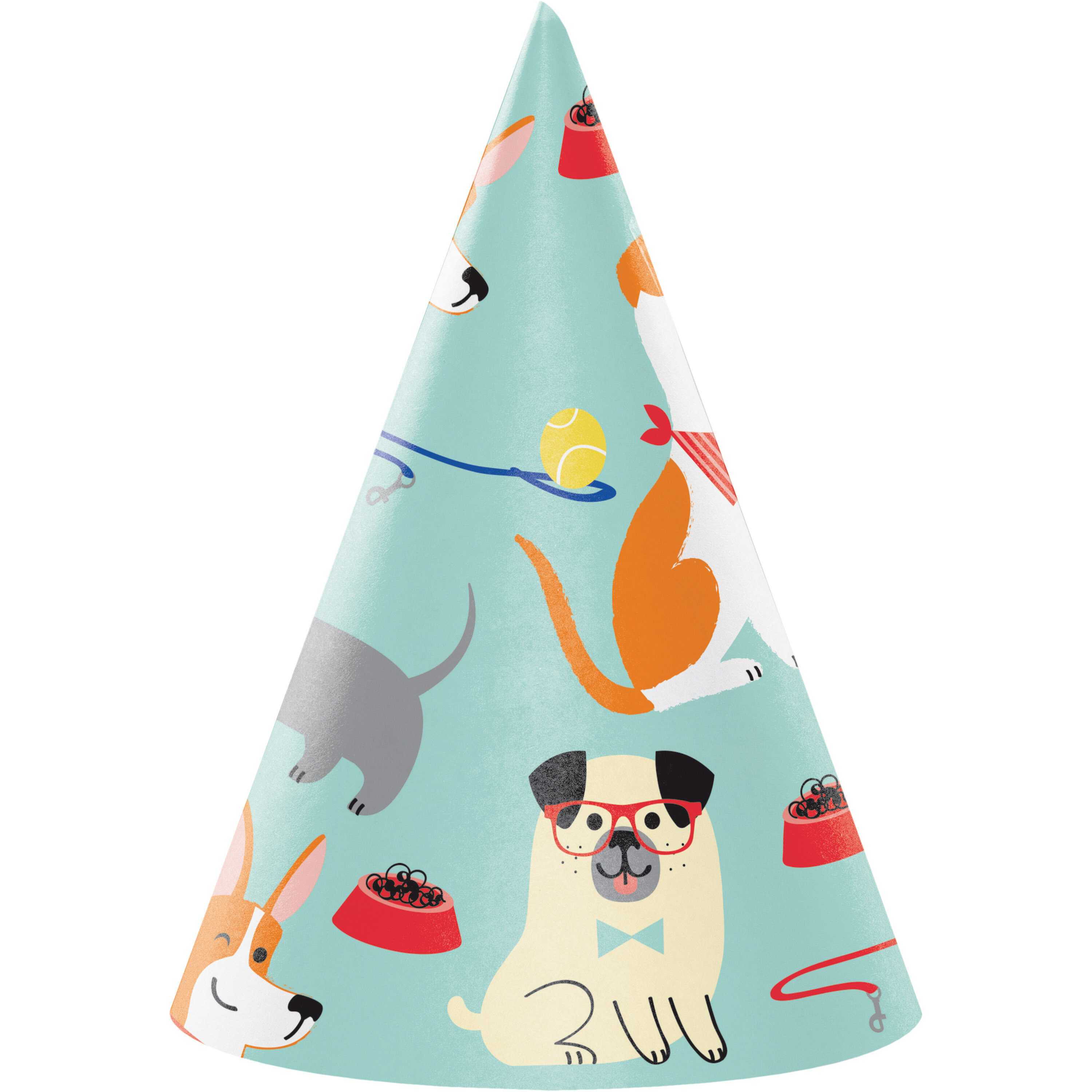 Dog Party Plastic Party Table Cover Table Cloth Border Print Birthday Dogs