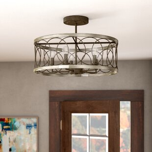 Cliffside 4-Light Semi Flush Mount by Brayden Studio