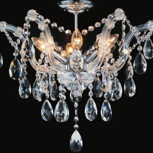 Astoria Grand Potnis 6-Light Semi Flush Mount