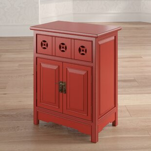 Walls Wooden Accent Cabinet with 1 Drawer and 2 Doors by World Menagerie