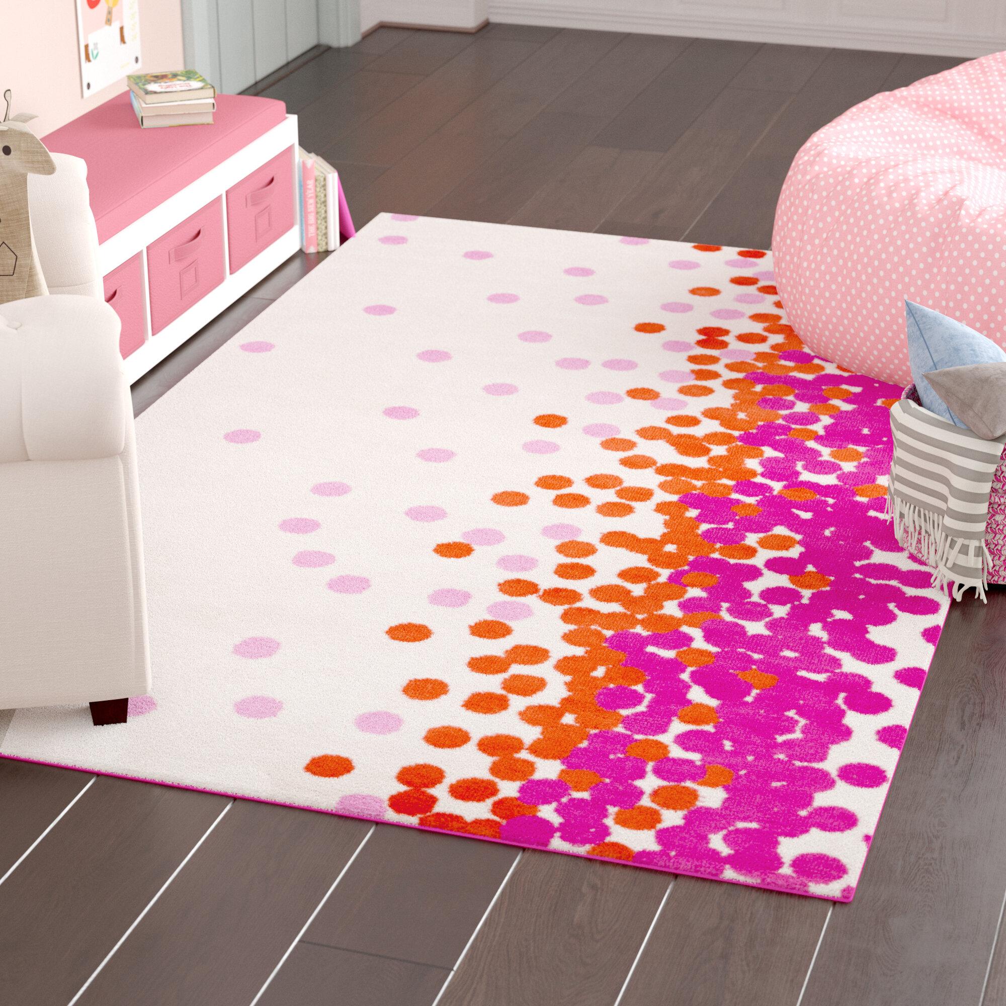 Harriet Bee Clive Hot Pink Carnation Area Rug Reviews Wayfair