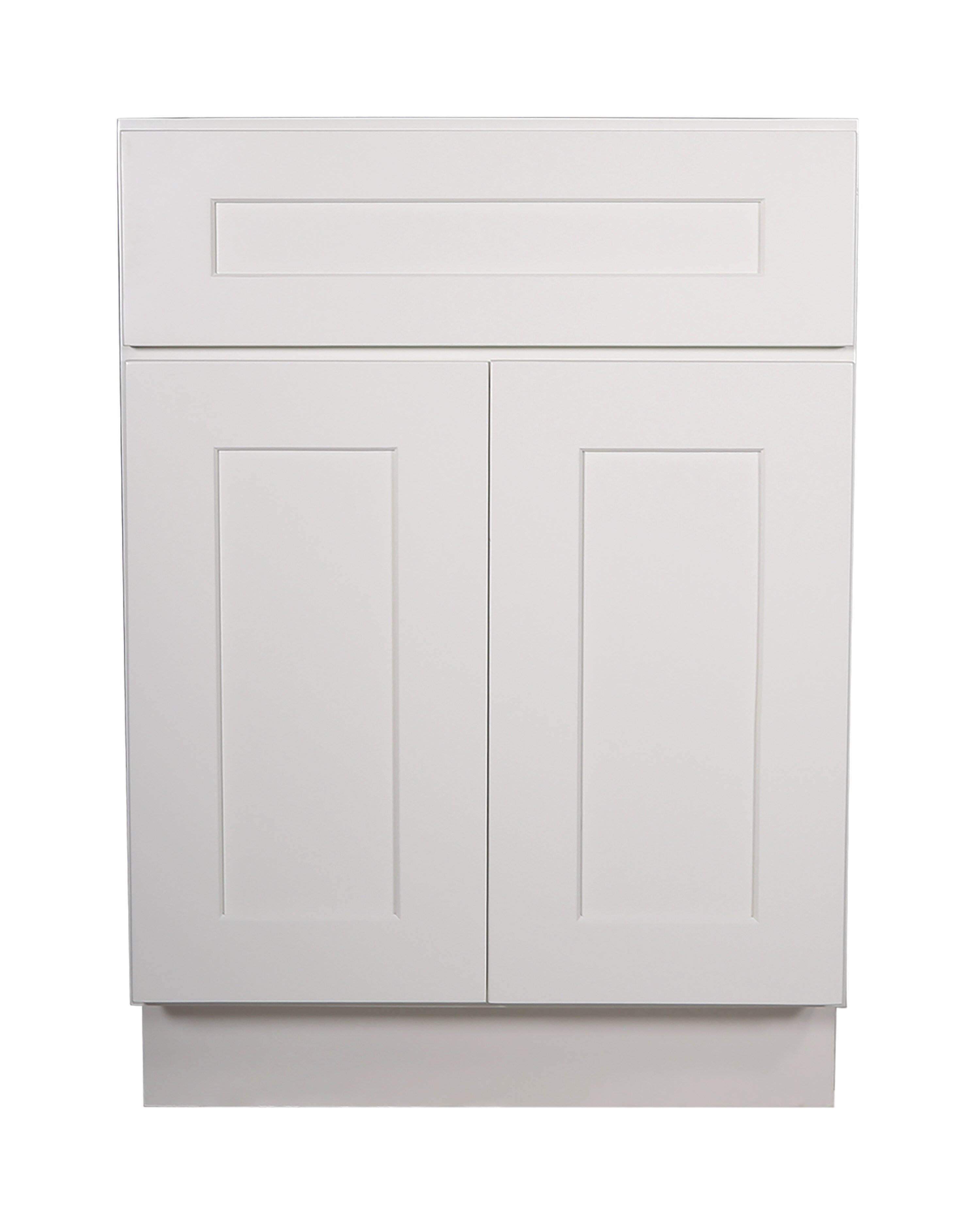 Ebern Designs Frits Fully Assembled 24x34 5x24 In Kitchen Base Cabinet In Espresso Wayfair