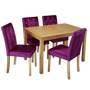 Great Condition Hardwood Mahogany Dining Table Chairs Set Minor Flaws With Regular Use Can Be Cleaned Off Needs To Go Matching Purple And