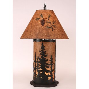 Goodman Feather Tree 34.5 Table Lamp