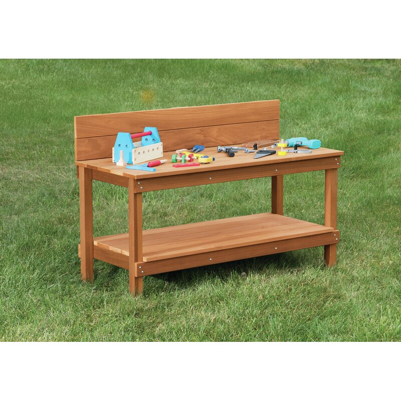 Childcraft Lostwithiel Outdoor 48 W Wood Top Workbench Wayfair