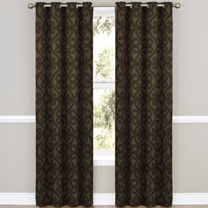 Payater Damask Thermal Single Curtain Panel
