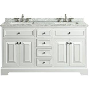 Hankins 60 Double Bathroom Vanity Set ByAlcott Hill