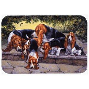 Basset Hound Puppies, Momma and Daddy Kitchen/Bath Mat