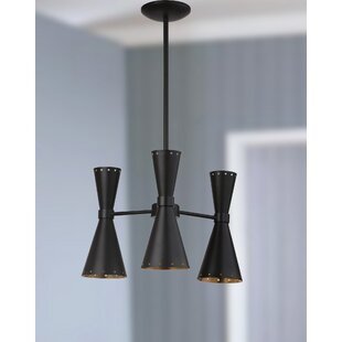 Wade Logan Versailles 3-Light Sputnik Chandelier