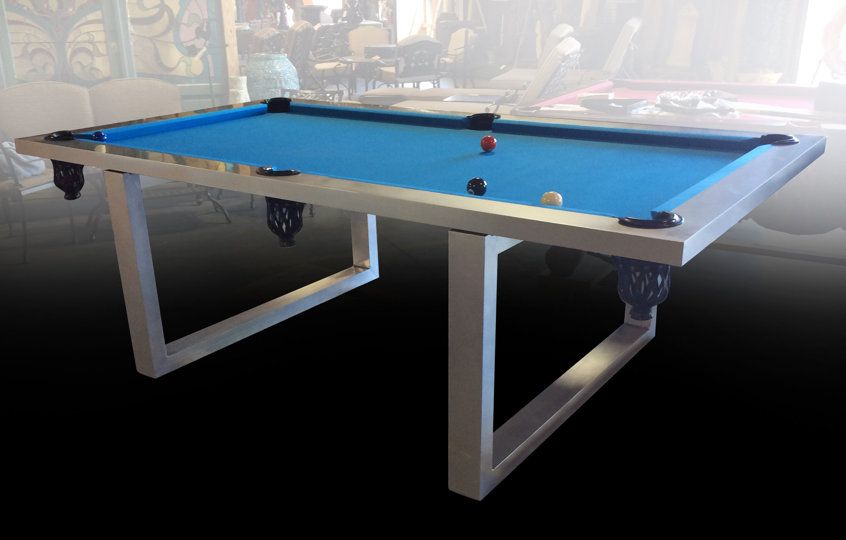 Art Frame Direct Stainless Steel 8' (Slate) Pool Table | Wayfair