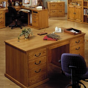 Reviews Reynoldsville Double Pedestal Executive Desk By Darby Home Co