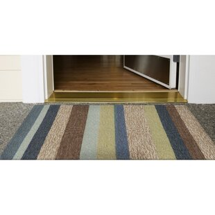Derby Stripe Denim Indoor/Outdoor Rug