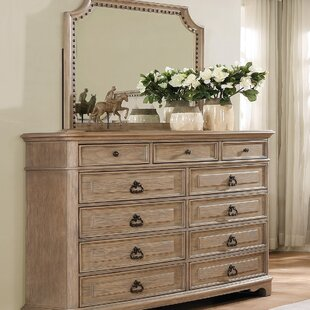 One Allium Way Pennington 11 Drawer Dresser with Mirror