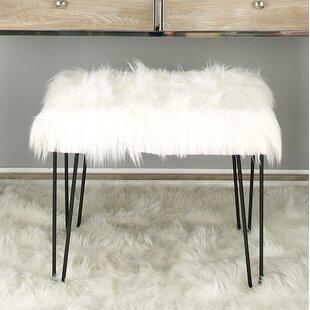 Lisdale Metal Fur Accent stool