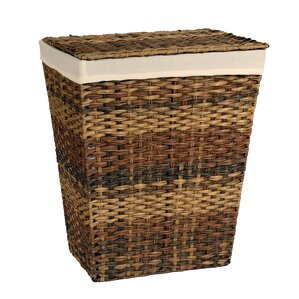 Handwoven Lidded Laundry Hamper