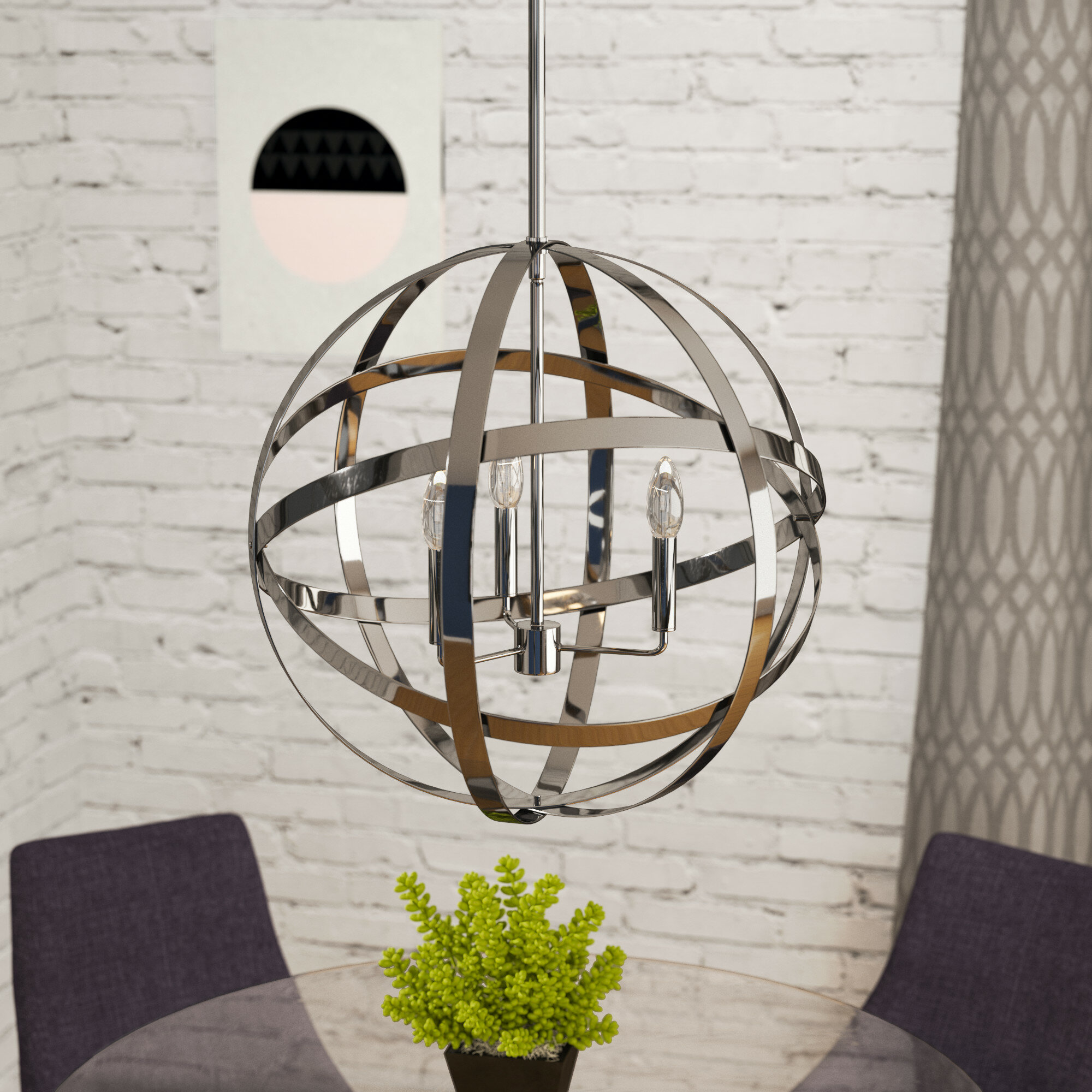 Mercury Row Curcio 3-Light Globe Chandelier & Reviews | Wayfair