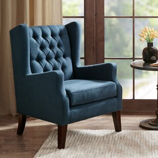 Charmant Allis Button Tufted Wingback Chair