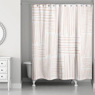 Campion Crosshatch Single Shower Curtain