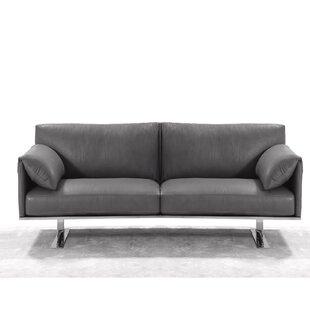 Fuente Leather Loveseat by Orren Ellis