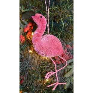 flamingo hanging figurine
