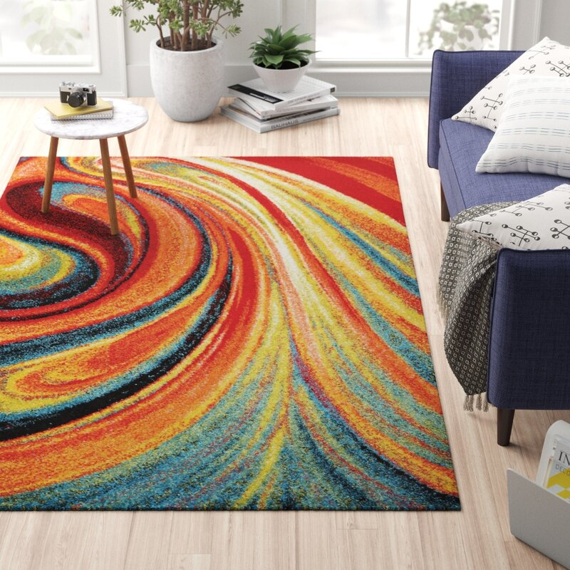 Peyton Abstract Multi Colored Area Rug