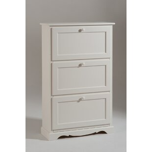 3 Door Shoe Cabinet By Fleur De Lis Living