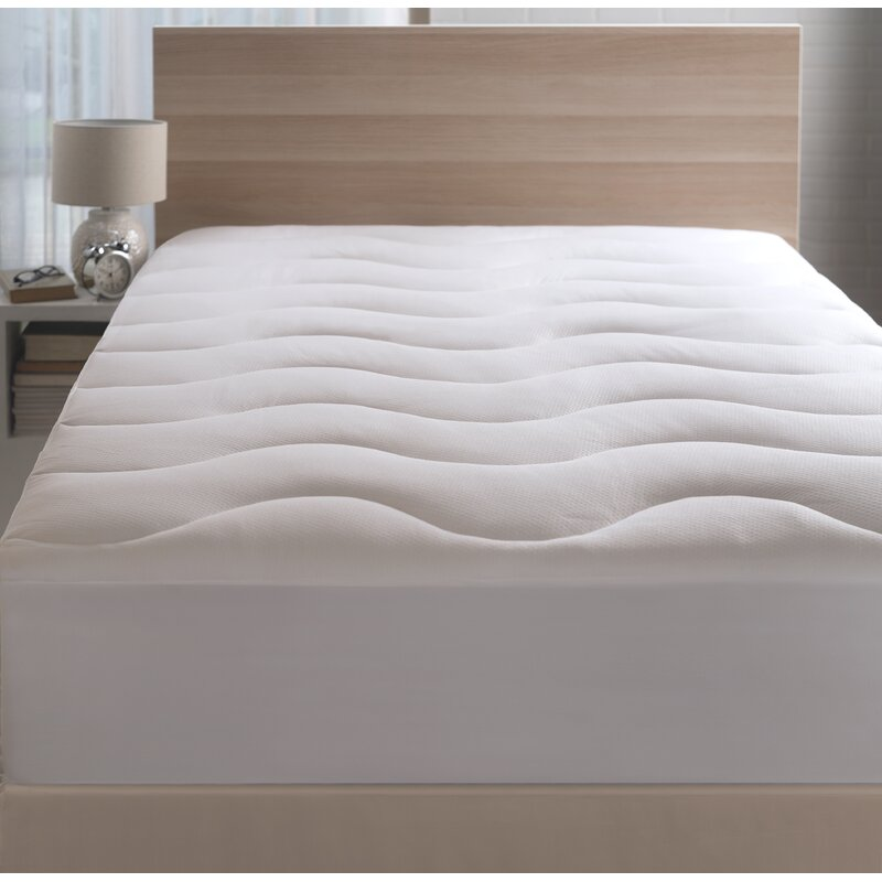 White Balceta Moisture Wicking Polyester And Fabric Mattress Pad by Alwyn Home