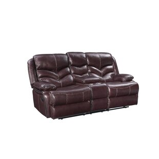 Check Prices Tews Leather Reclining Loveseat by Charlton Home Reviews (2019) & Buyer's Guide
