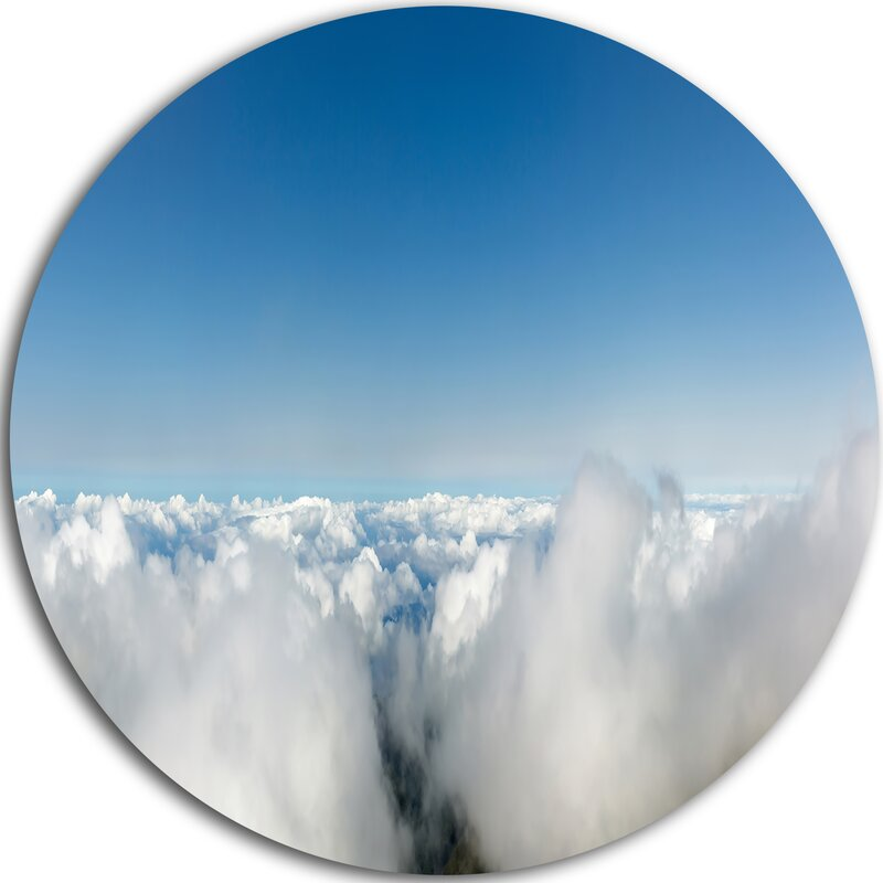 Designart Bright Blue Sky Above Clouds Photographic Print On Metal Wayfair