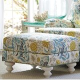 Ocean Breeze 27.5 Rectangle Floral Standard Ottoman by Tommy Bahama Home