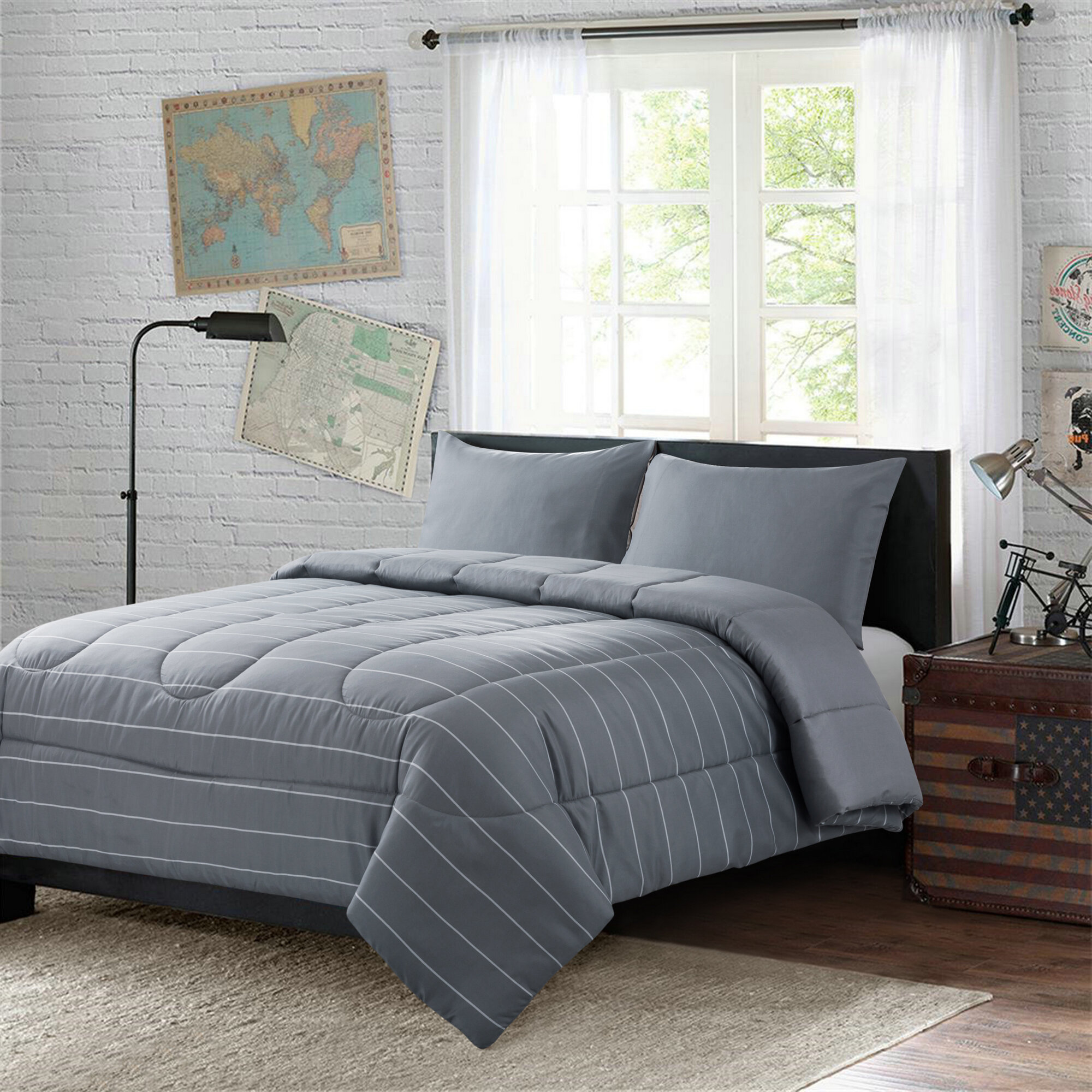 Latitude Run Dayza Reversible Comforter Set Wayfair