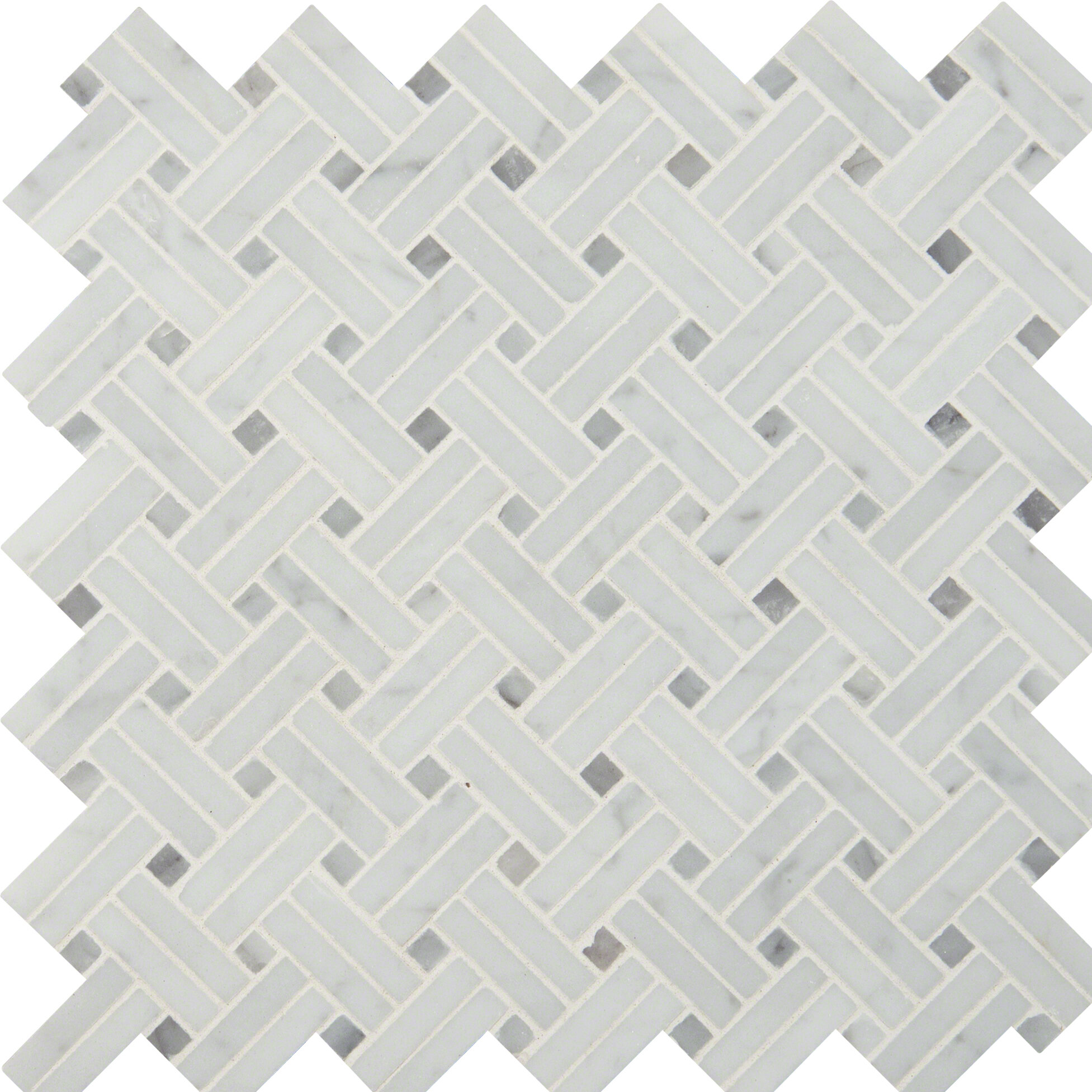 Msi basketweave polished marble mosaic tile in white wayfair dailygadgetfo Images