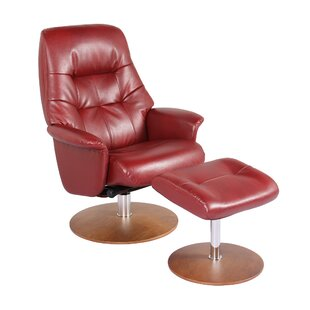 Latitude Run Fontanez Manual Glider Swivel Recliner with Ottoman