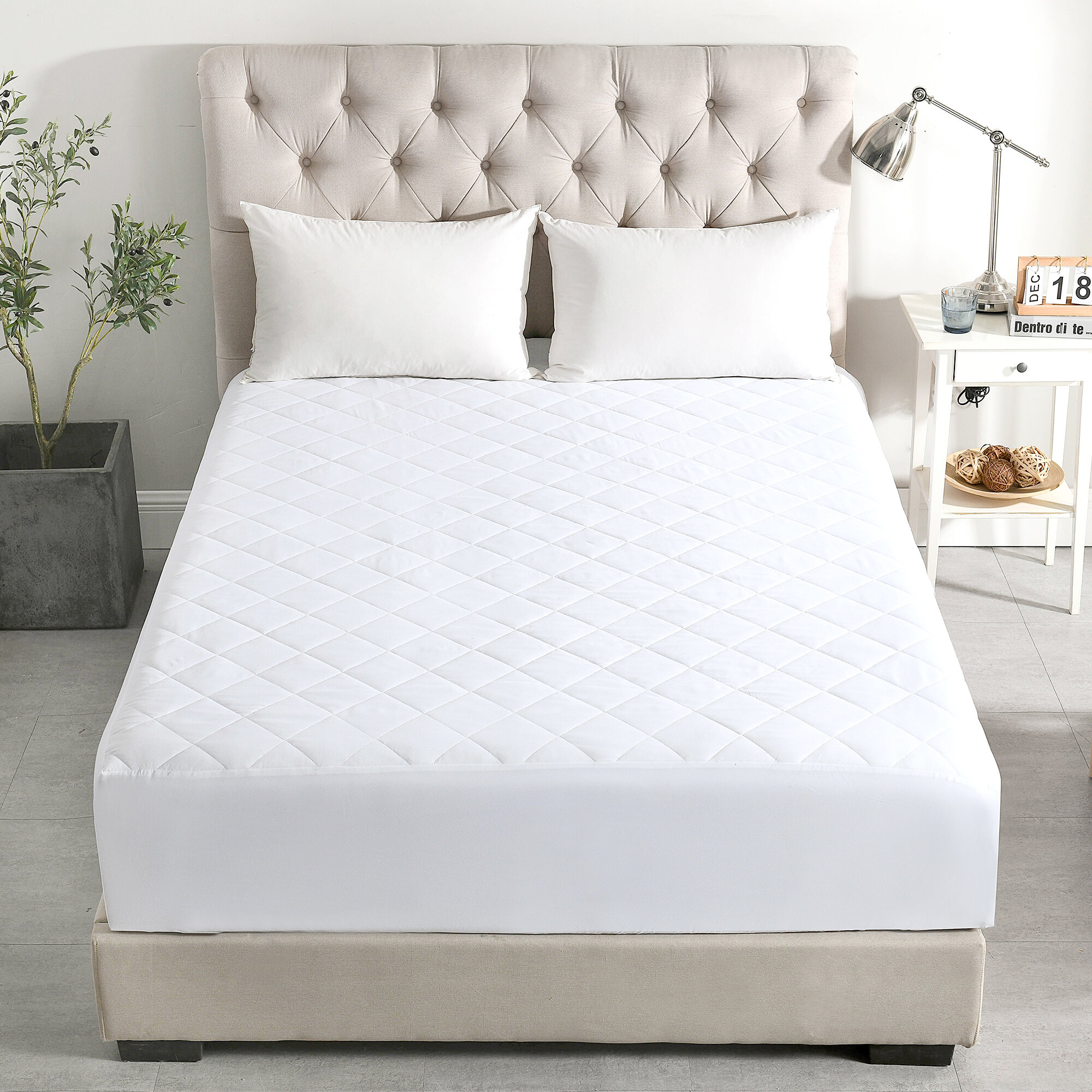 Quick Fit Quilted Mattress Pad Breathable And Soft Waterproof Other Bedding Home Furniture Diy Plastpath Com Br
